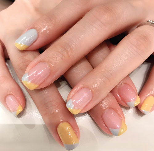 Diagonal French Nail