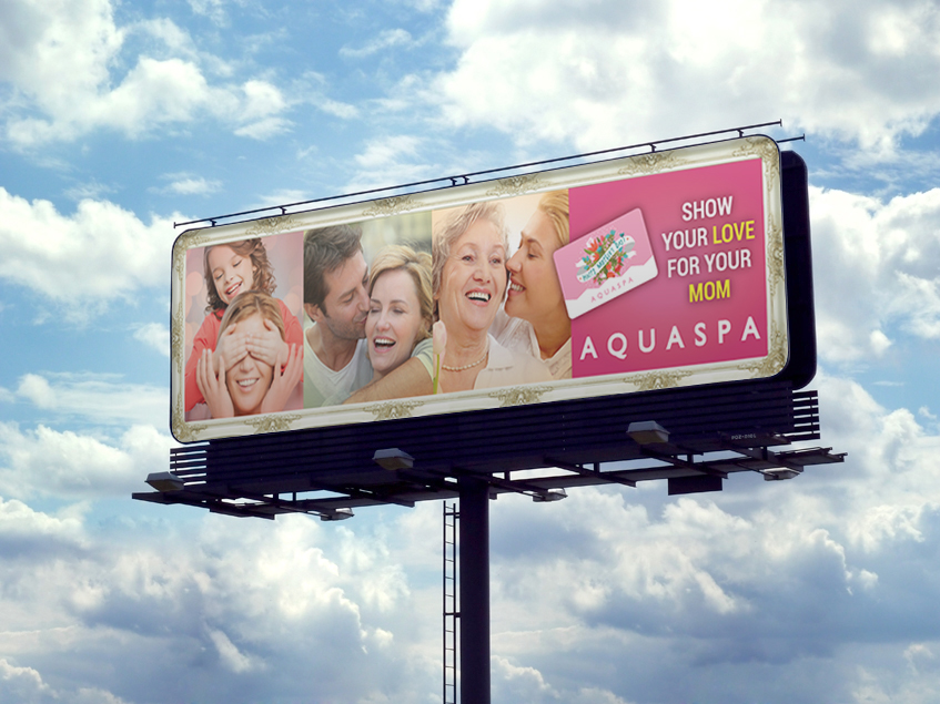 AQUASPA Billboard for the Mother's Day