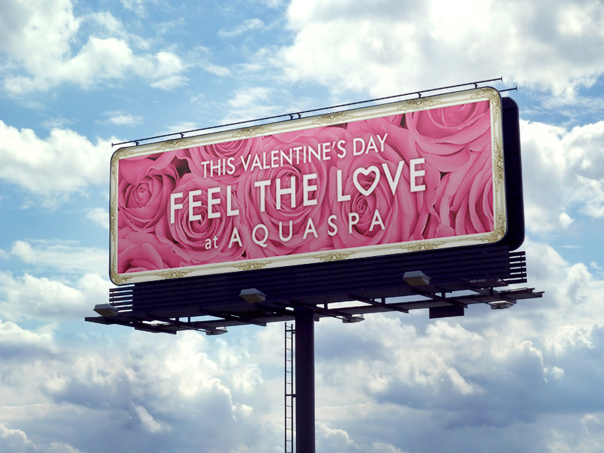 AQUASPA Billboard for the Valentines day