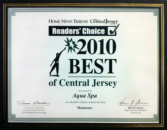 Readers' Choice – 2010 Best of Central Jersey